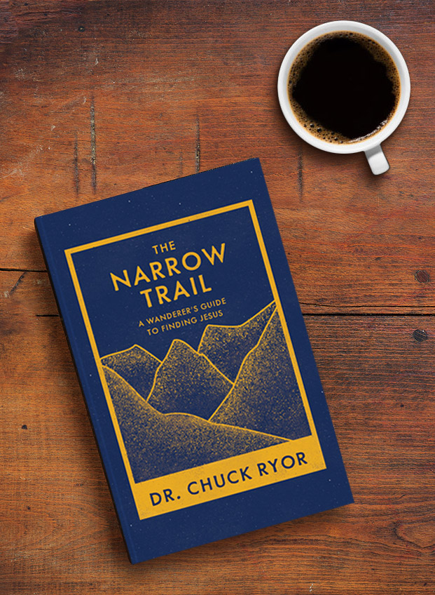 The Narrow Trail book on table